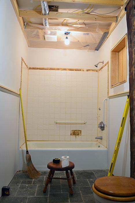 Bathroom renovation progress in November
