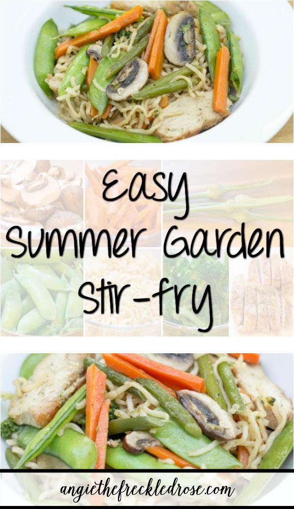 Summer Garden Stir-Fry | angiethefreckledrose.com