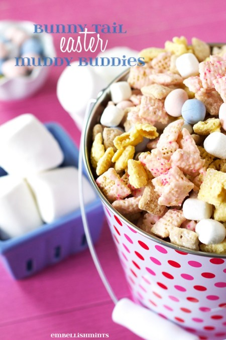 Bunny Tail Easter Muddy Buddies - Embellishmints