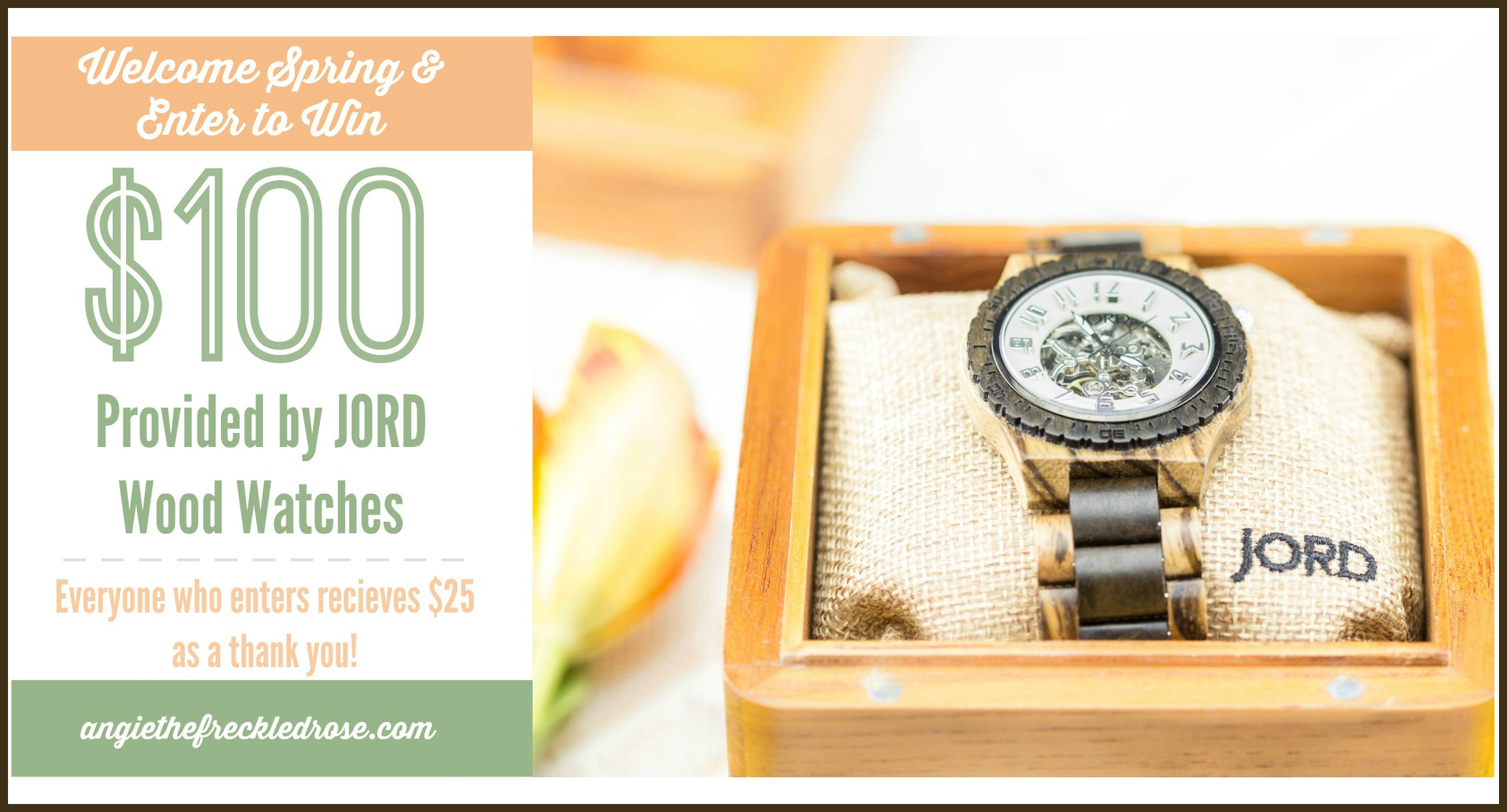 It's Finally Time for Spring! | Enter to Win $100 Provided by JORD wood watches | Angie The Freckled Rose