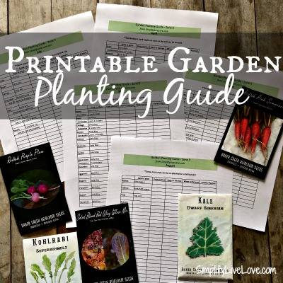 Printable Garden Planting Guide - SimplifyLiveLove
