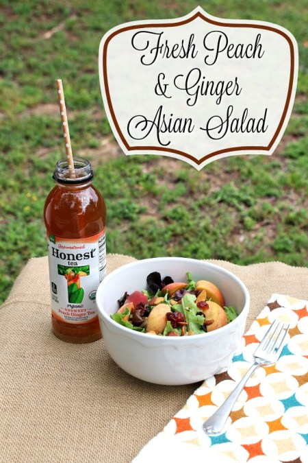 Peach & Ginger Asian Salad | MommaDJane