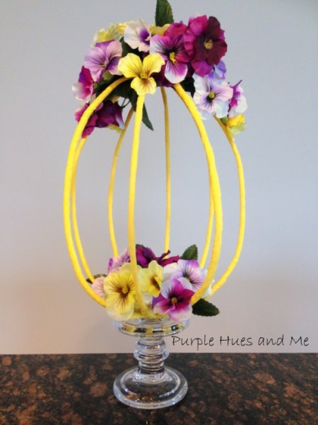 DIY Crepe Paper Easter Centerpiece | Purple Hues and Me
