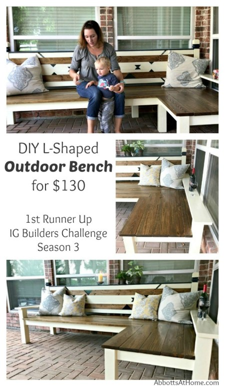 DIY Outdoor Bench - Abbotts At Home