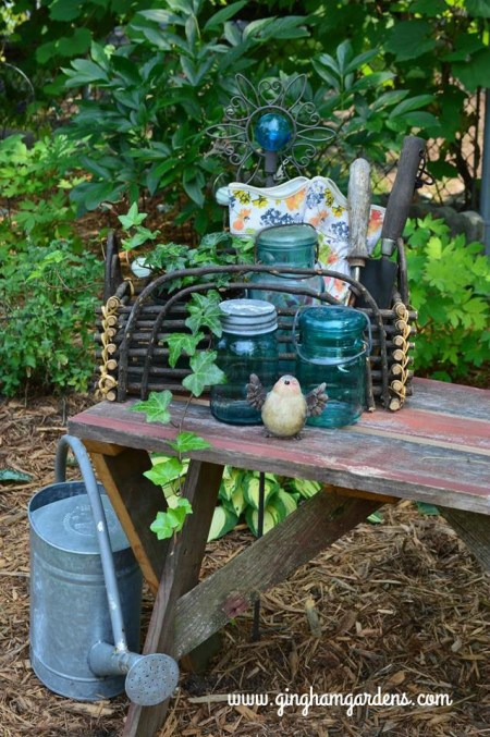 Garden Vignettes Using Flea Market Finds | Gingham Gardens
