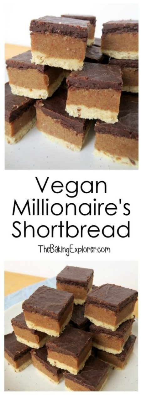Vegan Millionaire's Shortbread | The Baking Explorer