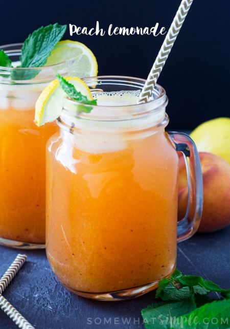 Peach Lemonade | Somewhat Simple
