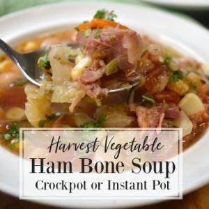 Harvest Vegetable Ham Bone Soup - An Oregon Cottage