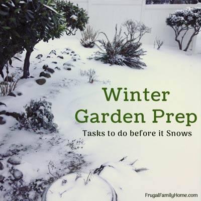 Winter Garden Prep - Frugal Family Home