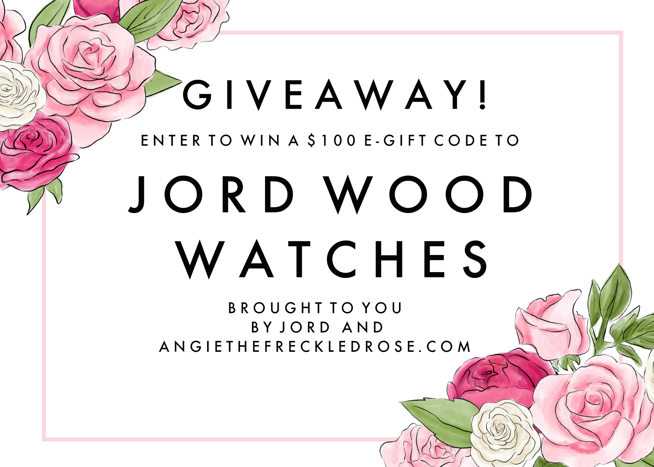 Jord Wood Watches Giveaway | angiethefreckledrose.com
