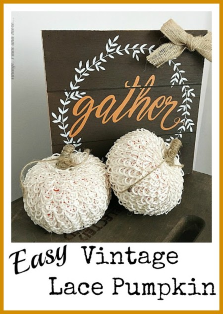 Easy Lacy Vintage Pumpkins | Vintage Paint and More