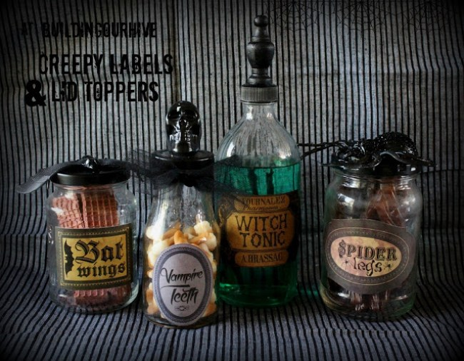 Halloween Apothecary Jars | Building Our Hive