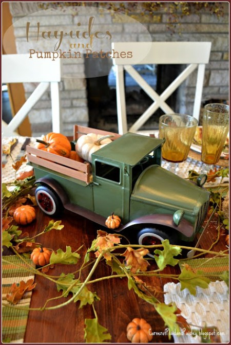 Hayrides & Pumpkin Patches Tablescape | Corner of Plaid and Paisley