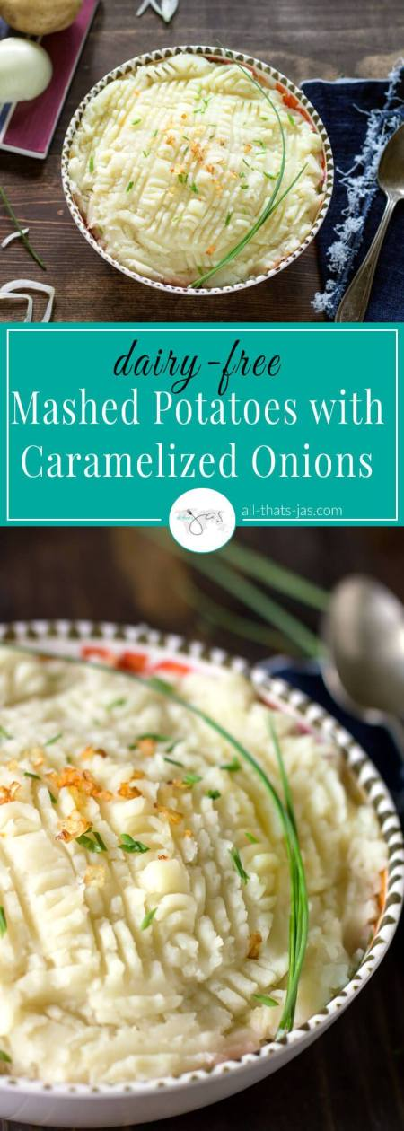 Mashed Potatoes with Caramelized Onions | All That Jas