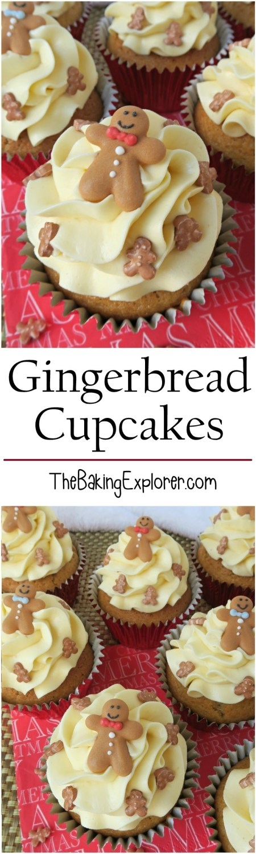 Gingerbread Cupcakes | The Baking Explorer
