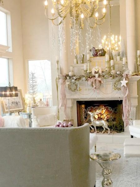 Great Room Christmas Tour   Purple Chocolat Home