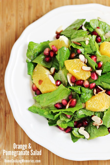 Orange & Pomegranate Salad | Home Cooking Memories
