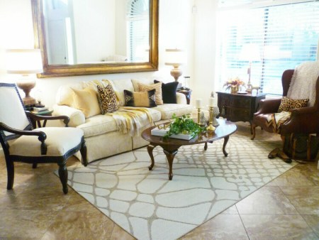 Black & Gold Living Room | A Stroll Thru Life