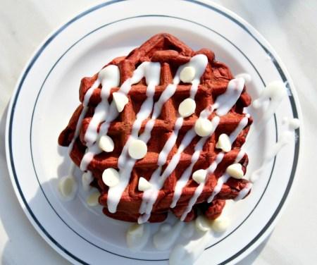 Red Velvet Waffles | Looney For Food