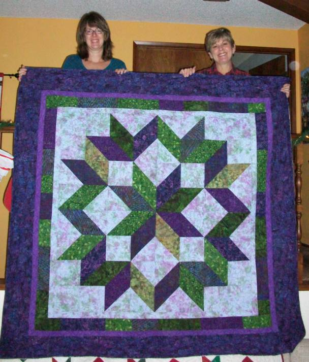 Teri and I made this Carpenter's Star quilt for the Wedding/First Anniversary of Nathan and Sarah