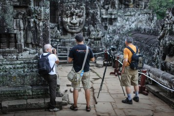 Our guests at Bayon temple.