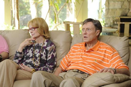 Mia Farrow as Phyllis and Christopher Walken as Jackie in ``Dark Horse.''
