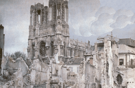 Cathédrale Reims 1914