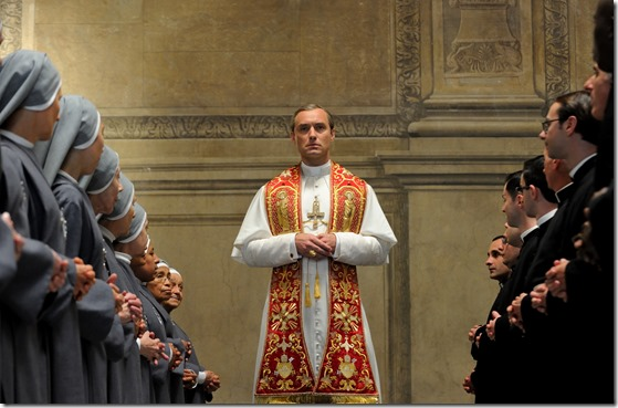 "set of ""The young Pope"" by Paolo Sorrentino. 10/23/2015 sc. 108 ep. 1 In the picture Jude Law. Photo by Gianni Fiorito"