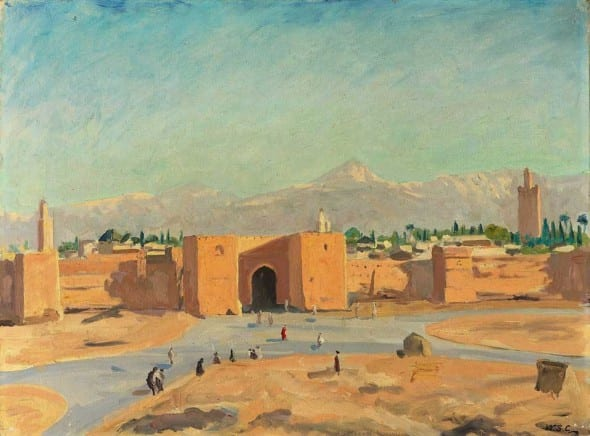 Another Churchill Painting of Morocco.