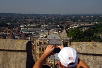 View of St George's Chapel from the top of the Round Tower