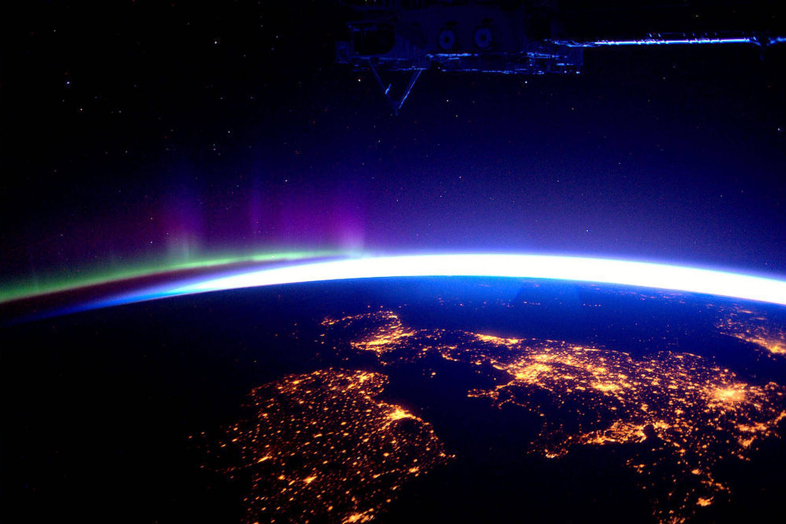 Photo The Uk At Night From The International Space Station