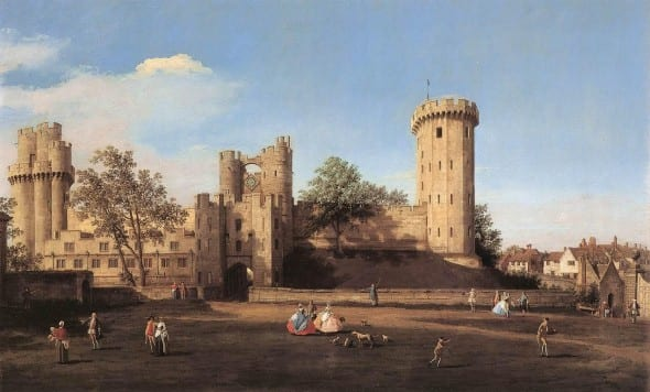 Warwick Castle painted by Canaletto in 1752.