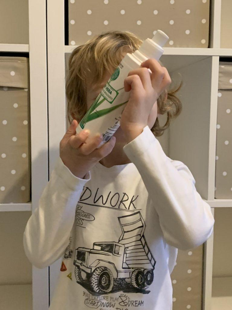 Riccardo che adora il gel aloe Calier