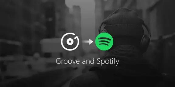 groove spotify e1507019747883 - Groove Music Pass non ci sarà più: arriva Spotify