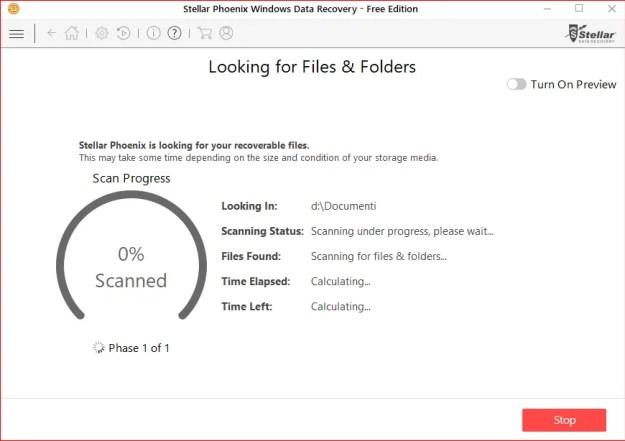 3 Inizio ricerca file - Recensione di Stellar Phoenix Windows Data Recovery + Sconto!
