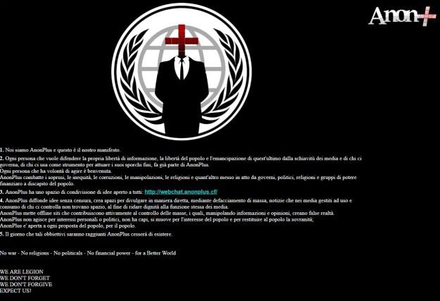 anon01 - AnonPlus colpisce e defaccia un sito web di Symantec