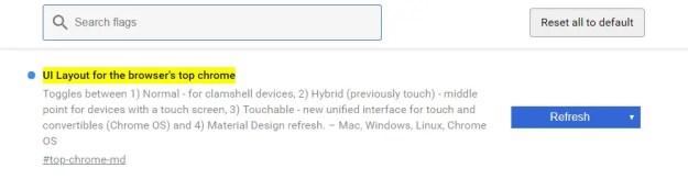 uilaout - Come attivare il material design in Google Chrome