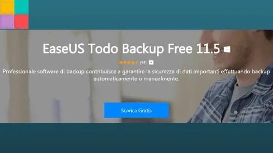 todobck02 - Recensione di EaseUS Backup Software 11.5