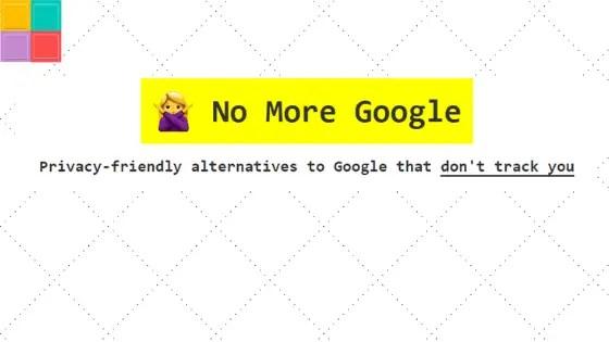 nomoregoogle01 - Ecco le migliori alternative ai servizi Google