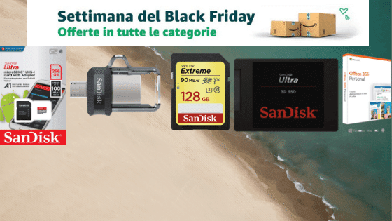blackfridaySSDmemorie - Black Friday Amazon: SSD e Memorie