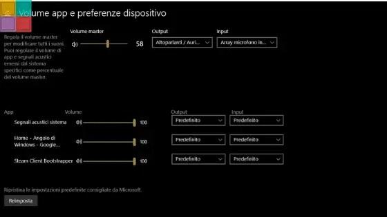 mixervolumecover - Mixer audio rinnovato per la prossima versione di Windows 10