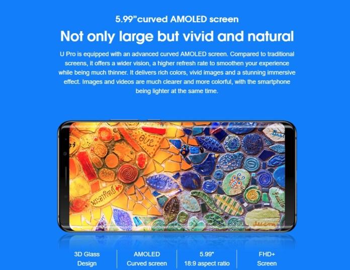 Elephone U Pro Screen