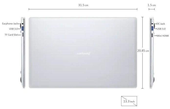 Jumper Ezbook 3 Pro dimensions
