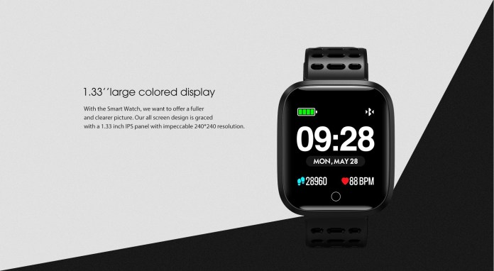 Lenovo E1 Smart Watch screen