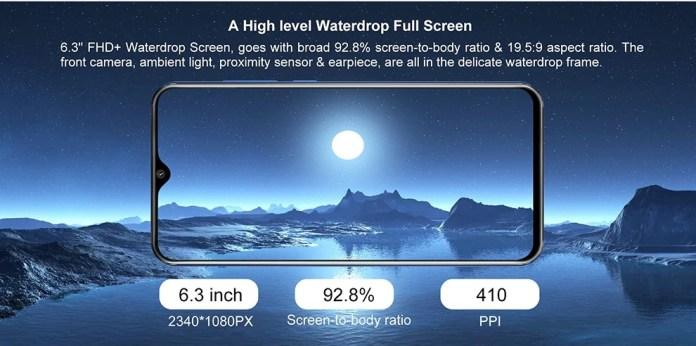 Cubot P30 smartphone Screen