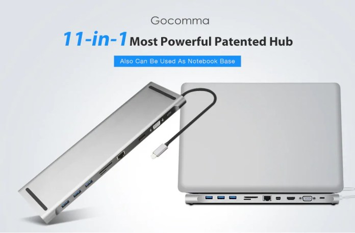 gocomma usb type-c hub-stand