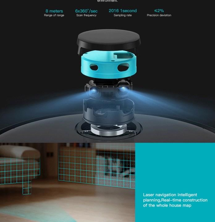 Viomi V2 Pro robot vacuum laser