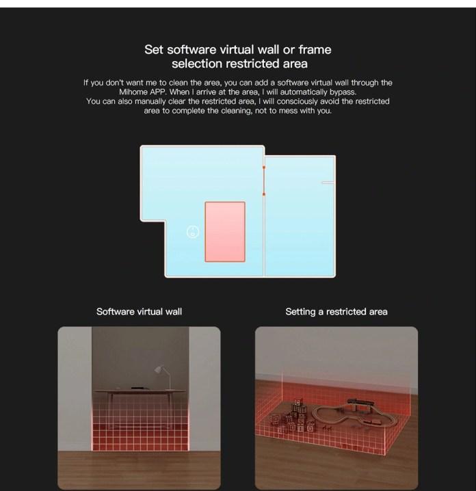 Viomi V2 Pro robot vacuum virtual walls