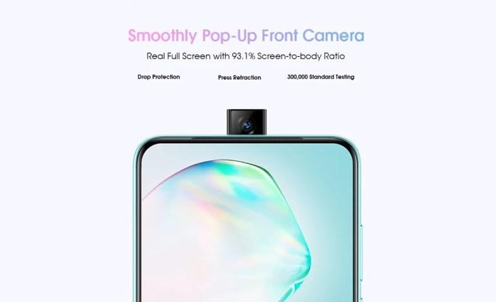 elephone PX popup camera