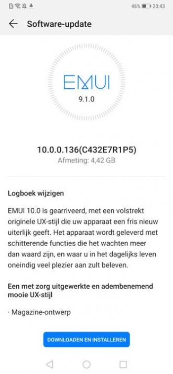 huawei mate 20 pro android 10 Emui 10 ota